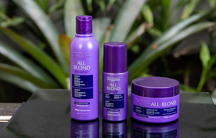 Prohall Cosmetic  - All Blond recupera áreas abaladas pela decoloração